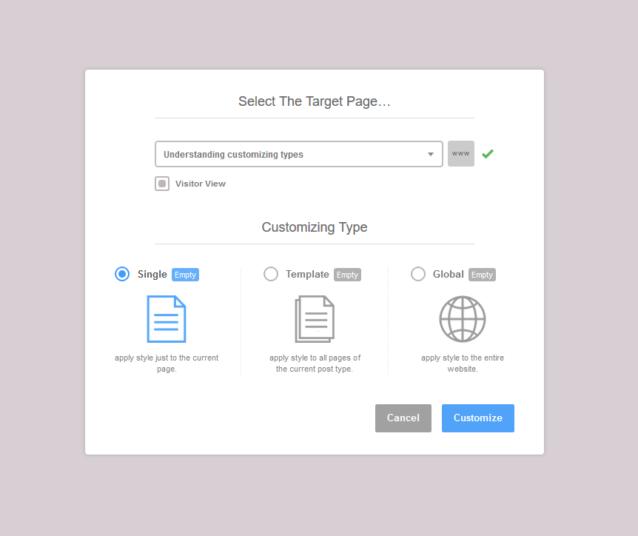Understanding Customizing Types – YellowPencil Docs
